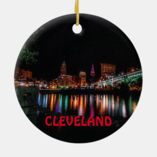 クリーブランドの景色のクリスマスのオーナメント セラミックオーナメント