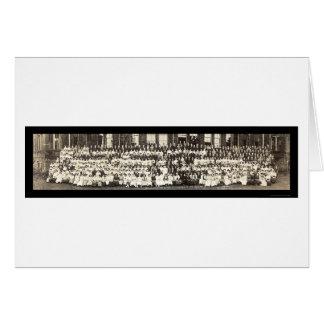 クリーブランドの高等学校の写真1913年 カード