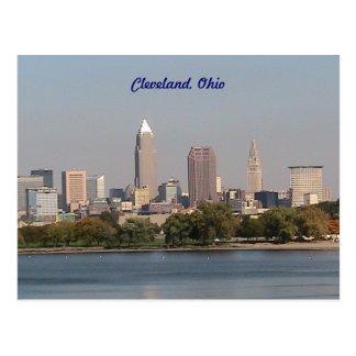 クリーブランドオハイオ州の湖畔の郵便はがき ポストカード