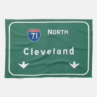 クリーブランドオハイオ州のoh州間幹線道路の高速道路: キッチンタオル