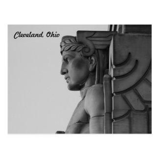 クリーブランドオハイオ州橋保護者(B及びW)郵便はがき ポストカード
