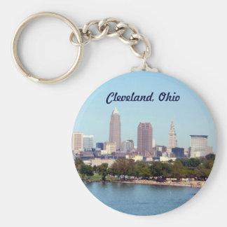 クリーブランドオハイオ州(湖の眺め) Keychain キーホルダー