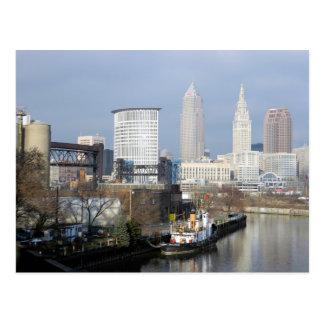 クリーブランド、オハイオ川の眺めの郵便はがき ポストカード