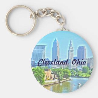クリーブランド、オハイオ州の写真のペンキRiverview Keychain キーホルダー