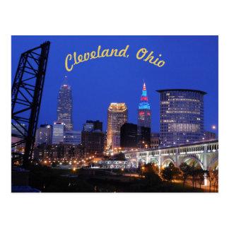 クリーブランド、オハイオ州の西側のスカイライン(カーブ)の郵便はがき ポストカード