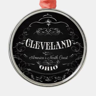 クリーブランド、オハイオ州-アメリカの北岸 メタルオーナメント