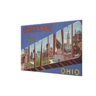 クリーブランド、オハイオ州-大きい手紙場面3 キャンバスプリント