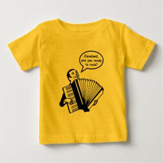 クリーブランド、揺れて準備ができていますか。 (アコーディオン) ベビーTシャツ