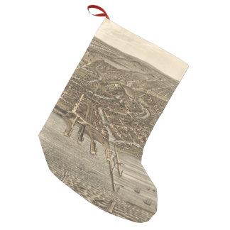 クリーブランド(1877年)のヴィンテージの絵解き地図 スモールクリスマスストッキング