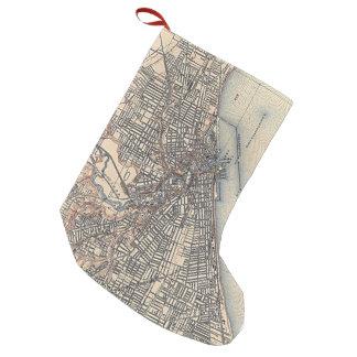 クリーブランド(1904年)のヴィンテージの地図 スモールクリスマスストッキング