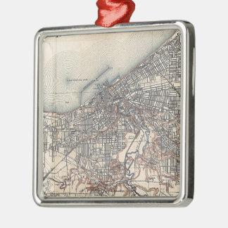 クリーブランド(1904年)のヴィンテージの地図 メタルオーナメント
