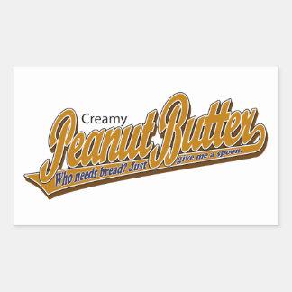 クリーミーなピーナッツバター 長方形シール