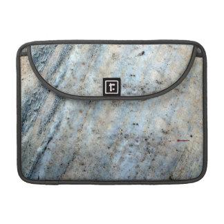 クリームおよび灰色の大理石 MacBook PROスリーブ