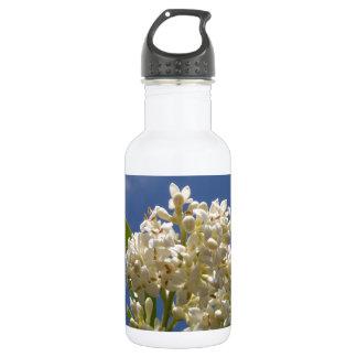 クリームがかった白の花 ウォーターボトル