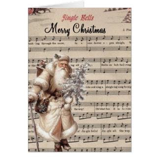 クリームによって着色されるサンタのクリスマスカード カード