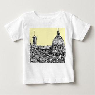 クリームのフィレンツェイタリア ベビーTシャツ