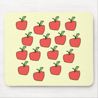 クリームの赤いりんごパターン、 マウスパッド