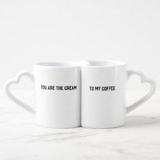 クリーム及びコーヒー・マグ ペアカップ