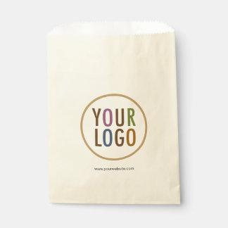 クリーム色のアイボリーのベージュ色の好意は決め付けられるカスタムなロゴを袋に入れます フェイバーバッグ