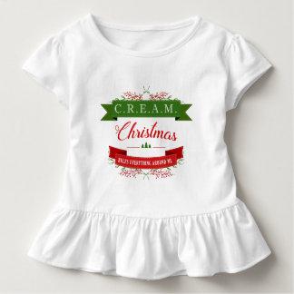 クリーム色のクリスマスは私のまわりですべてを支配します! トドラーTシャツ