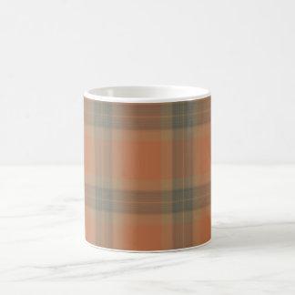クリーム色のタータンチェックのマグ コーヒーマグカップ