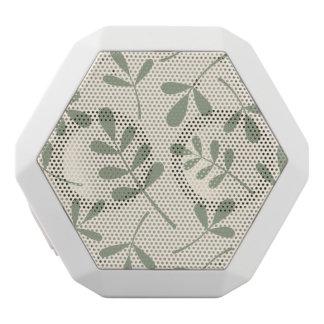 クリーム色のデザインの大きい分類された緑の葉 ホワイトBluetoothスピーカー