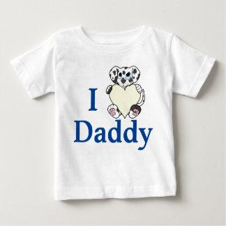 クリーム色のハートのバレンタインデーのDalmatian犬 ベビーTシャツ