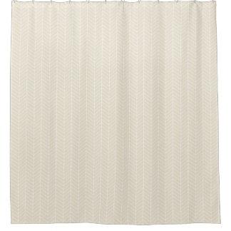 クリーム色のヘリンボンシャワー・カーテン シャワーカーテン