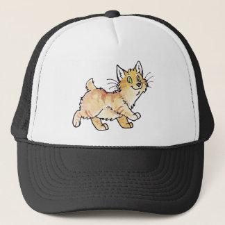 クリーム色の虎猫のManx子猫 キャップ