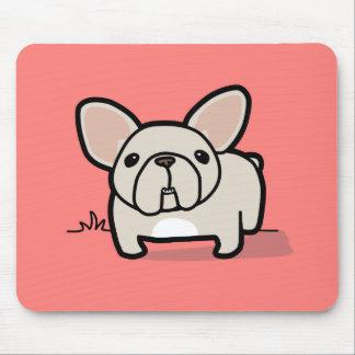 クリーム色のFrenchie マウスパッド
