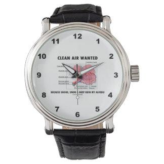 クリーンエアーは健康及び薬の気胞のユーモアがほしいと思いました 腕時計