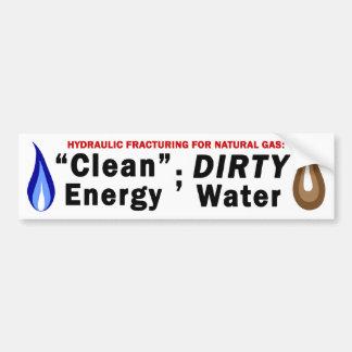 クリーンエネルギー; 汚れた水バンパーステッカー(白い) バンパーステッカー