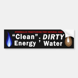 クリーンエネルギー; 汚れた水バンパーステッカー(黒) バンパーステッカー