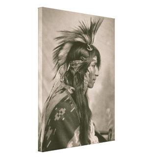 クリー族のインディアン キャンバスプリント