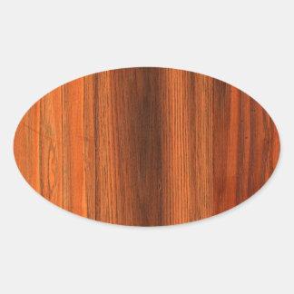 クリ 動揺して 木 穀物 床 卵形シール・ステッカー