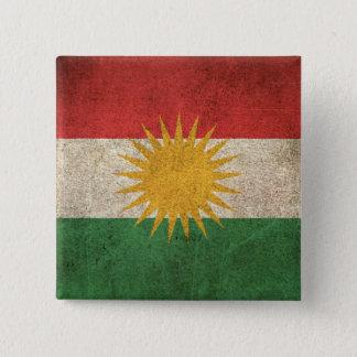 クルジスタンのヴィンテージの動揺してな旗 5.1CM 正方形バッジ