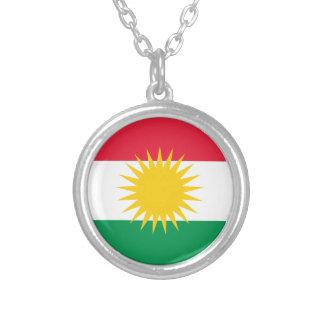 クルジスタンの旗 シルバープレートネックレス