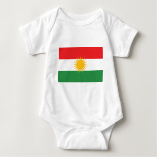 クルジスタンの旗(AlayのクルジスタンかAlaya Rengîn) ベビーボディスーツ