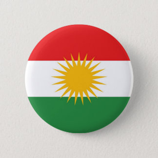クルジスタンの民族の旗 5.7CM 丸型バッジ
