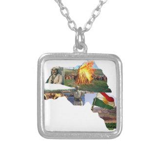 クルジスタン文化 シルバープレートネックレス