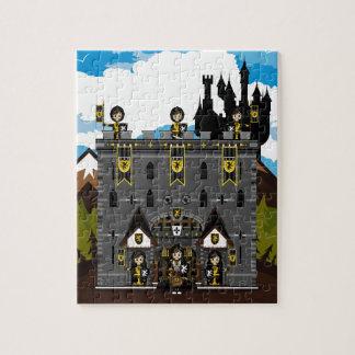 クルセーダーの騎士および城のジグソーパズル ジグソーパズル