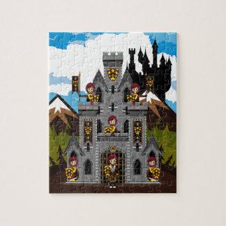 クルセーダーの騎士および城のパズル ジグソーパズル