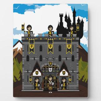 クルセーダーの騎士および城のプラク フォトプラーク