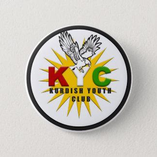 クルドのユースクラブの (KYC)ロゴピン 5.7CM 丸型バッジ