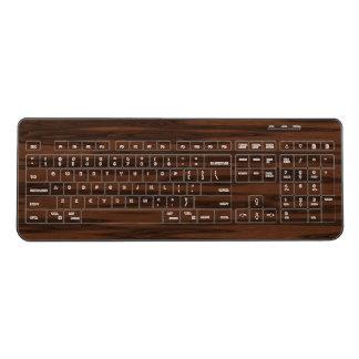 クルミによって模倣される木 ワイヤレスキーボード