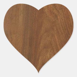 クルミの木製のアメリカの終わりのブランクのblanche + 文字 ハートシール