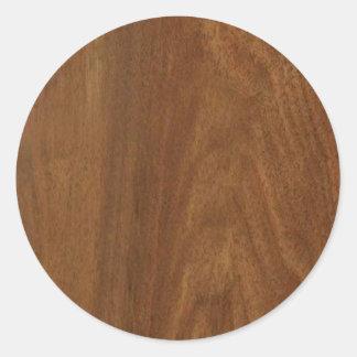 クルミの木製のアメリカの終わりのブランクのblanche + 文字 ラウンドシール