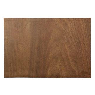 クルミの木製のアメリカの終わりのブランクのblanche + 文字 ランチョンマット