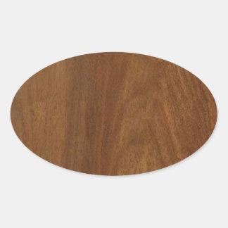 クルミの木製のアメリカの終わりのブランクのblanche + 文字 楕円形シール
