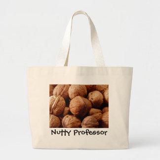 クルミ、ナッツ味の教授の先生の卒業 ラージトートバッグ